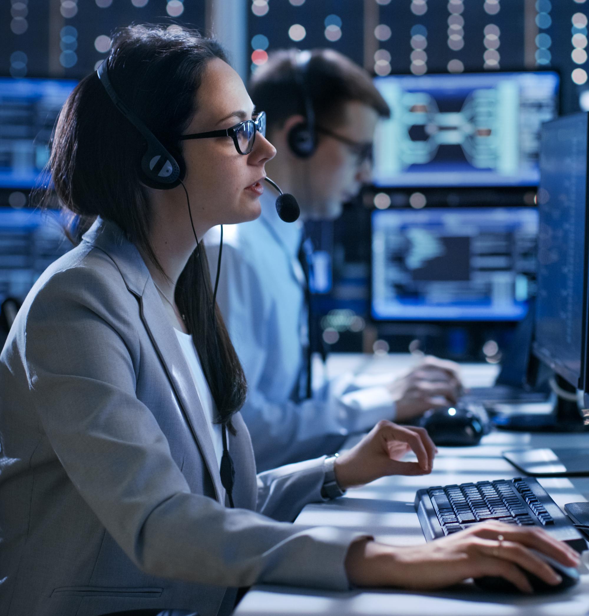 Female working in a Technical Support Team